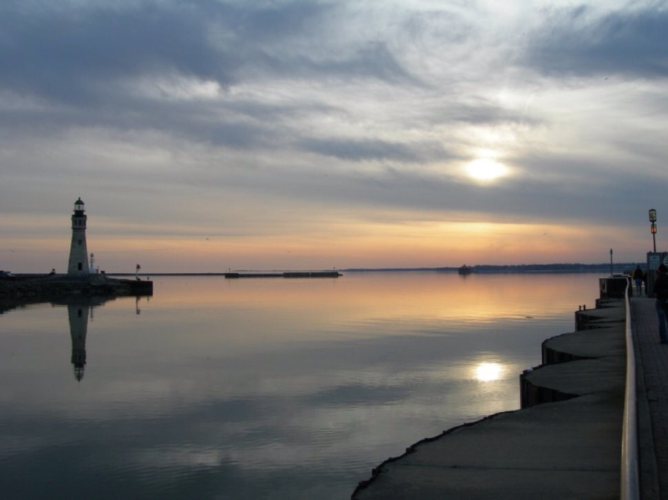 My picture of the Buffalo Waterfront on Lake Erie.