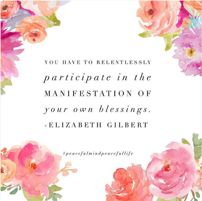Relentlessly participate in manifestation of your blessings!!!